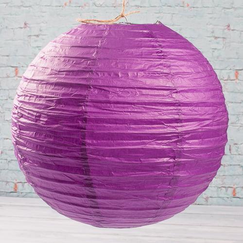 "Richland Paper Lanterns Round Chinese White  12"" Set of 10"