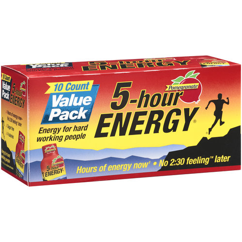 5-Hour Energy Pomegranate Dietary Supplement Value Pack, 10ct