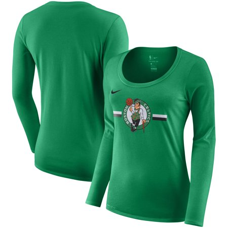 Boston Celtics Nike Women s Essential Logo Performance Long Sleeve T-Shirt  - Kelly Green - Walmart.com cf9d7985ba