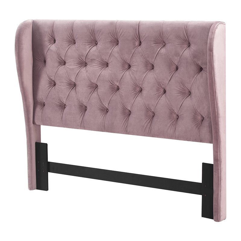 Lillian August Harlow Upholstered Headboard Queen Size Dusty Mauve