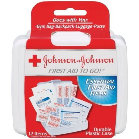 6 Pack First Aid (6 Pack Johnson & Johnson First Aid to Go! Essential First Aid Items - 12)