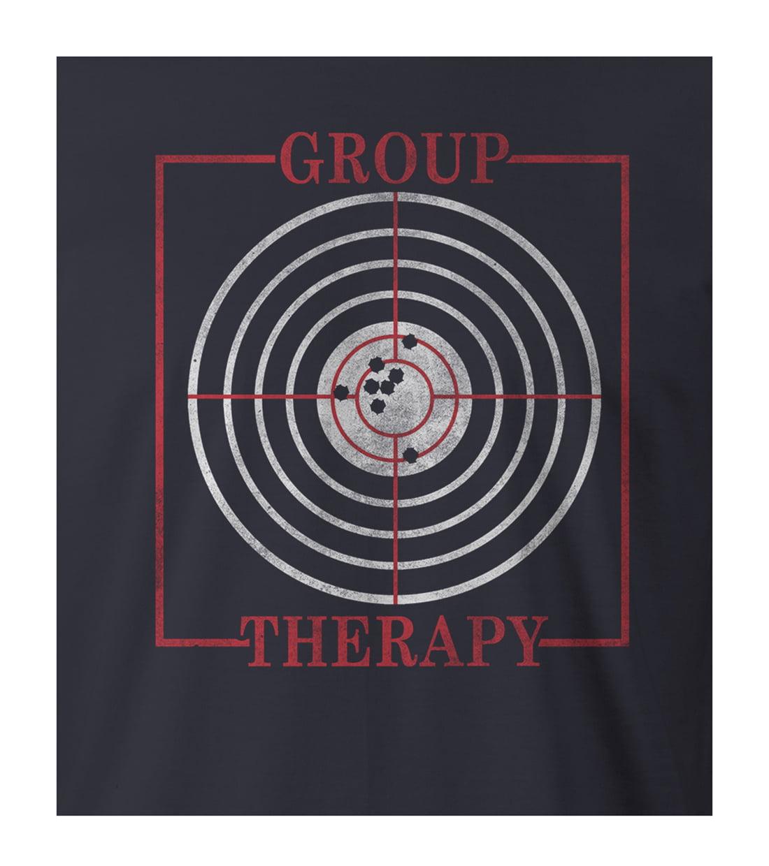9 Crowns Tees Funny Group Therapy Gun Target Shooting T Shirt Mens Mens Navy Large