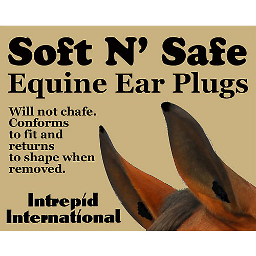 SALE  3 Pair for the Price of 2 Brown Equine Horse Size Ear Plugs Protection