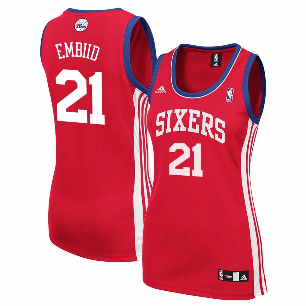 b29e7efe3f3 ... discount code for joel embiid philadelphia 76ers nba adidas womens red  replica jersey 4551b 96881