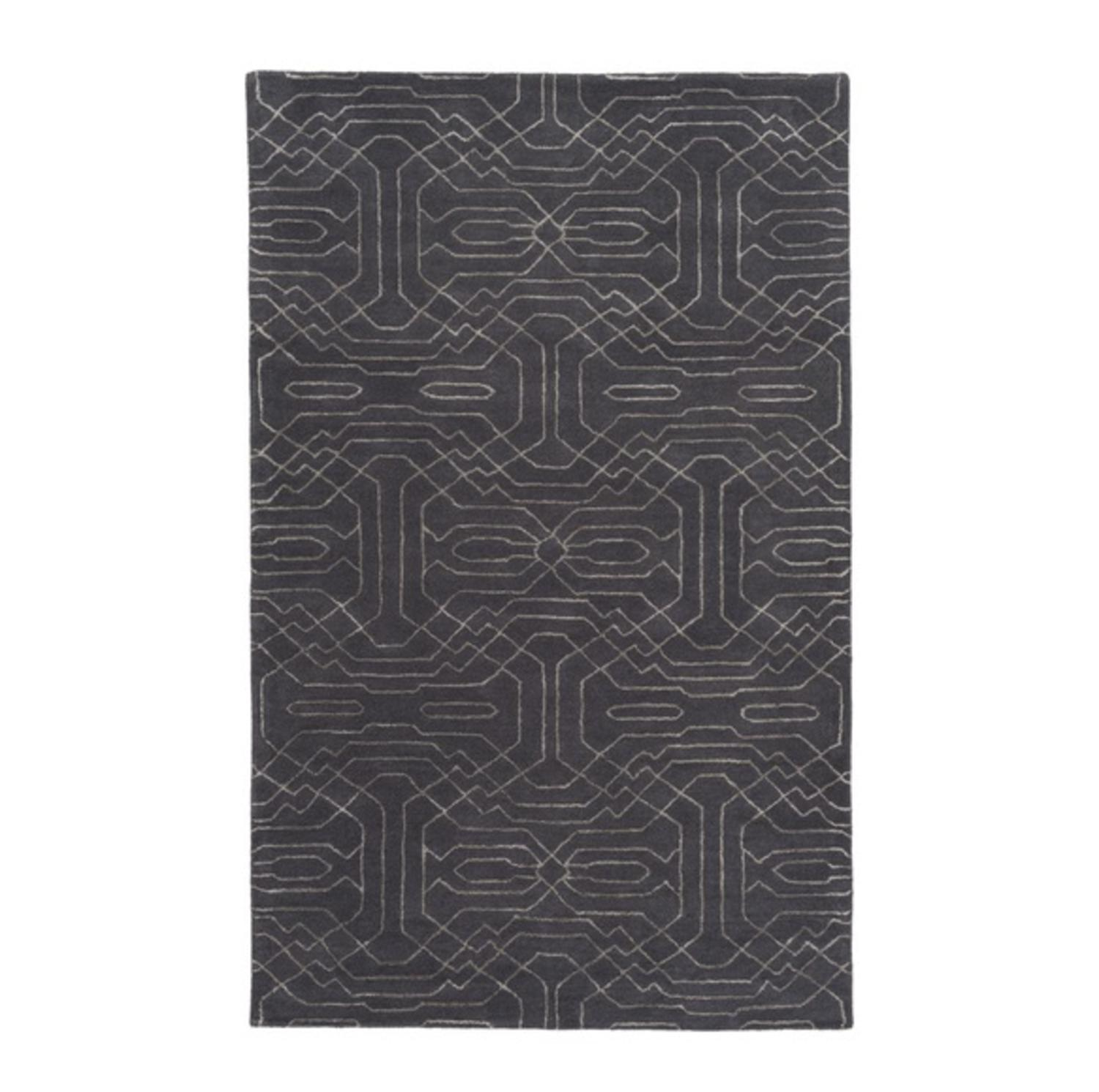 4' x 6' Technology Chic Midnight Black and Misty Blue Han...
