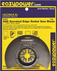 Eazypower Oscillating Radial Saw Blade, Serrated Edge, 4 In. by Eazypower