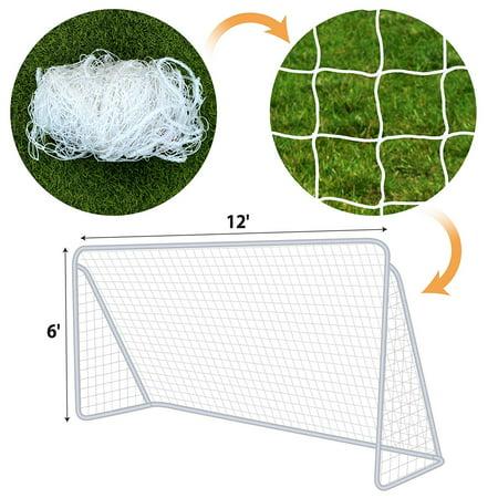 Spot Net - Strong Camel Net for Portable Football Soccer door 12\' x 6\' Soccer Net Nelon Net Sport Training