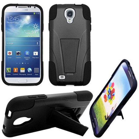 brand new 32866 f1ac9 Phone Case for Straight Talk Samsung Galaxy GRAND Prime 4G LTE / Go Prime  GoPhone (AT&T) Rugged Cover Kickstand ( T-Stand Black-Black Corner )