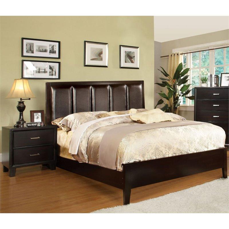 Bedroom Sets Espresso furniture of america cruzina 2 piece queen bedroom set in espresso