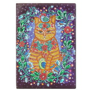 Milochic DIY Cat Special Shaped Diamond Painting 50 Page Sketchbook A5 Notebook Gift