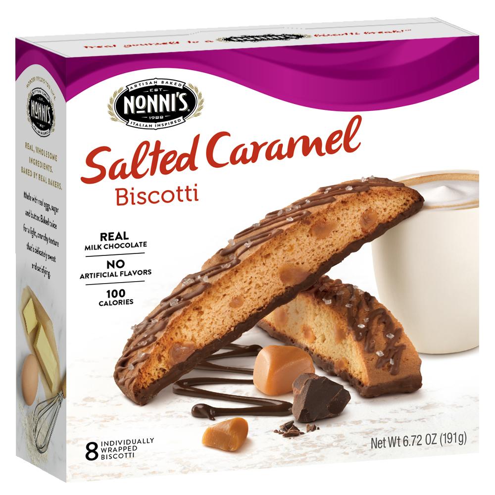 Nonni's Salted Caramel Biscotti, 6.72 Oz., 8 Count