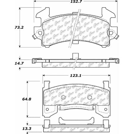 Go-Parts OE Replacement for 1978-1988 Oldsmobile Cutlass Supreme Front Disc  Brake Pad Set for Oldsmobile Cutlass Supreme
