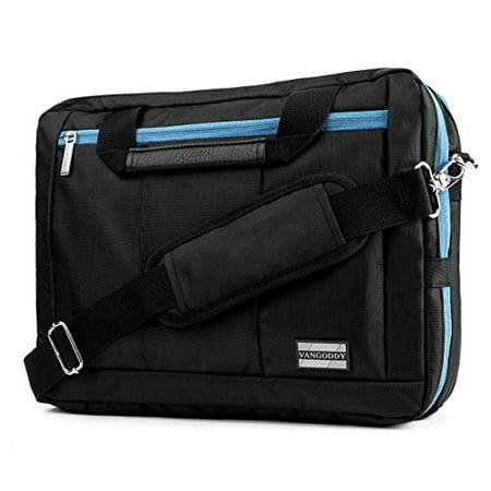 VanGoddy El Prado 3-in-1 Messenger + Backpack + Briefcase Transformer for 15 to 16 inch Laptops and Tablets - Black/Aqua - image 4 of 4