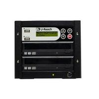 U-Reach P701 1-1 Multimedia 4 in 1 USB, CD & DVD Duplicator
