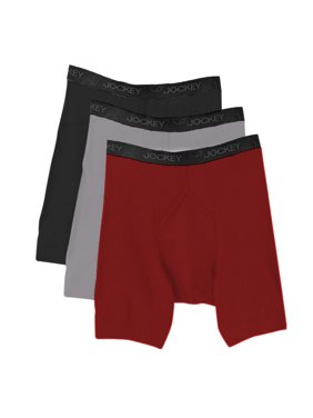 ac6e2ad229f9 Product Image NEW Jockey 8803 Staycool Men's Midway Boxer Brief 3 Pack S M  L XL 100% Cotton