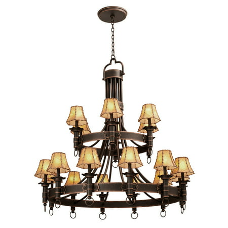 Chandeliers 18 Light With Country Iron Finish Hand Forged Wrought Iron E12 145 inch 720 Watts