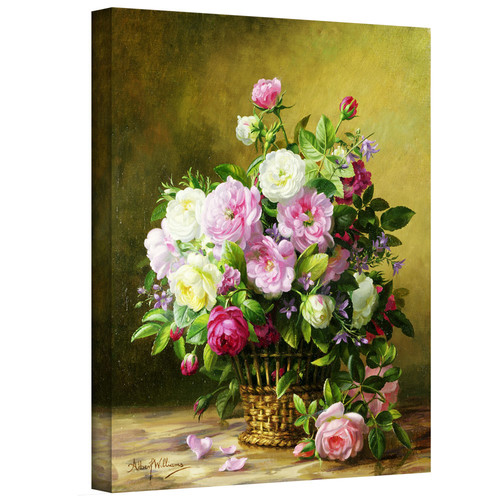 ArtWall ''Roses'' by Albert Williams Painting Print on Canvas