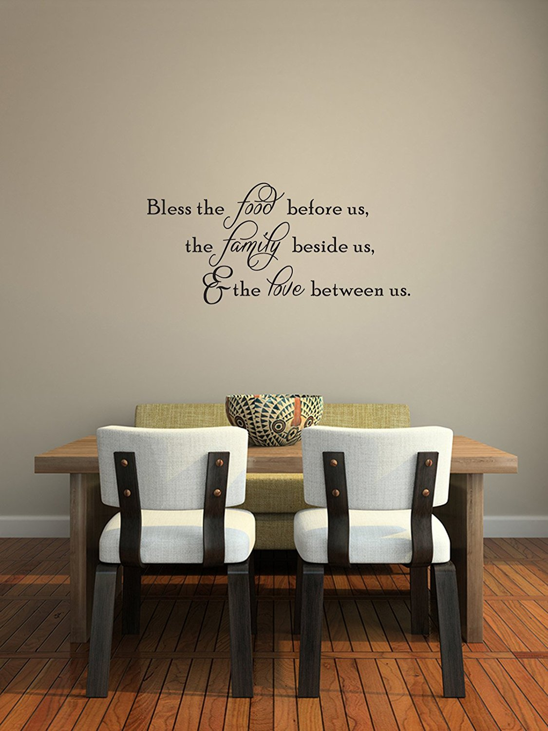Bless The Food Before Us Vinyl Wall Decal Thanksgiving Quotes Holiday Home Kitchen Sticker Fall Decor