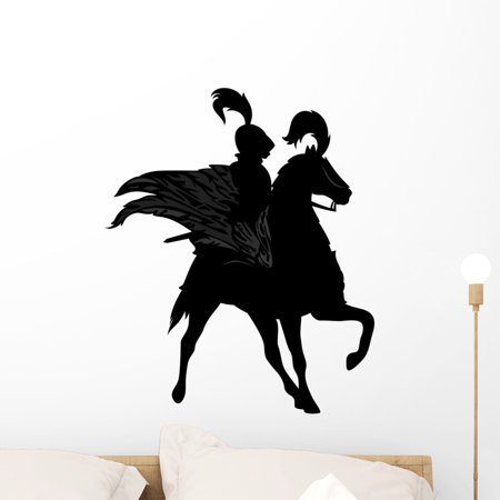 Knight Riding Winged Horse Wall Decal Wallmonkeys Peel and Stick Decals for Boys (24 in H x 24 in W) WM502683