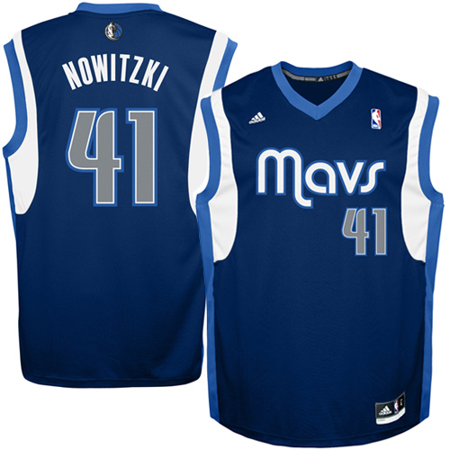 68226dbcafdb3 Mens Dallas Mavericks Dirk Nowitzki adidas Navy Blue Replica ...