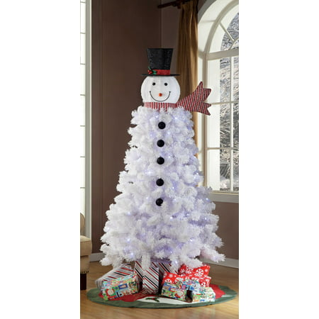 holiday time pre lit 65 ft snowman christmas tree - Pre Lit And Decorated Christmas Trees