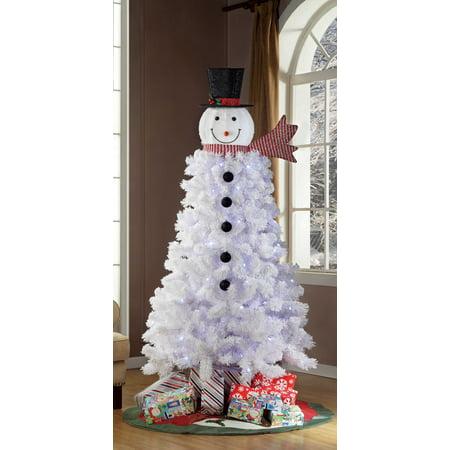 Holiday Time Pre-Lit 6.5 ft. Snowman Christmas Tree ...