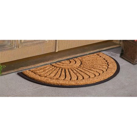 - JMJ LE 81069 30X48 Sunburst Coir Door Mat, Black, 30 x 48 in.