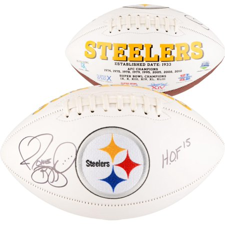 Jerome Bettis Pittsburgh Steelers Autographed White Panel Football with HOF 2015 Inscription - Fanatics Authentic -