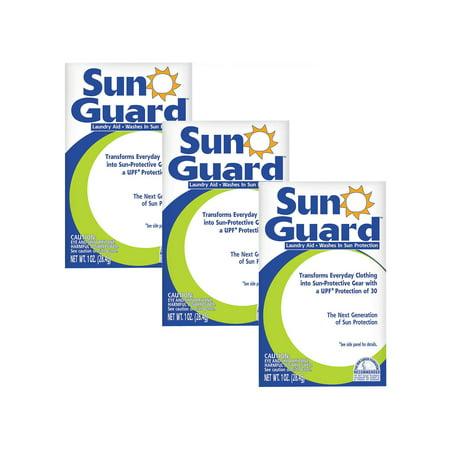 Nakoma Products Sunguard Sun Protection Clothing Wash - UPF 30 Wash-In Laundry Additive, Set of 3