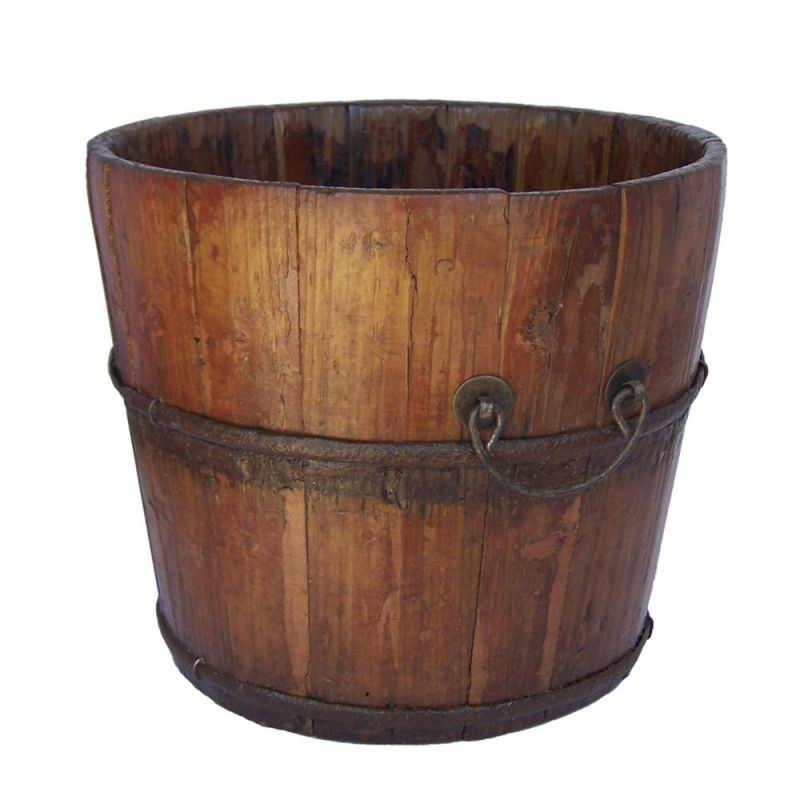 Antique Revival Vintage Wooden Sink Bucket 9.5H
