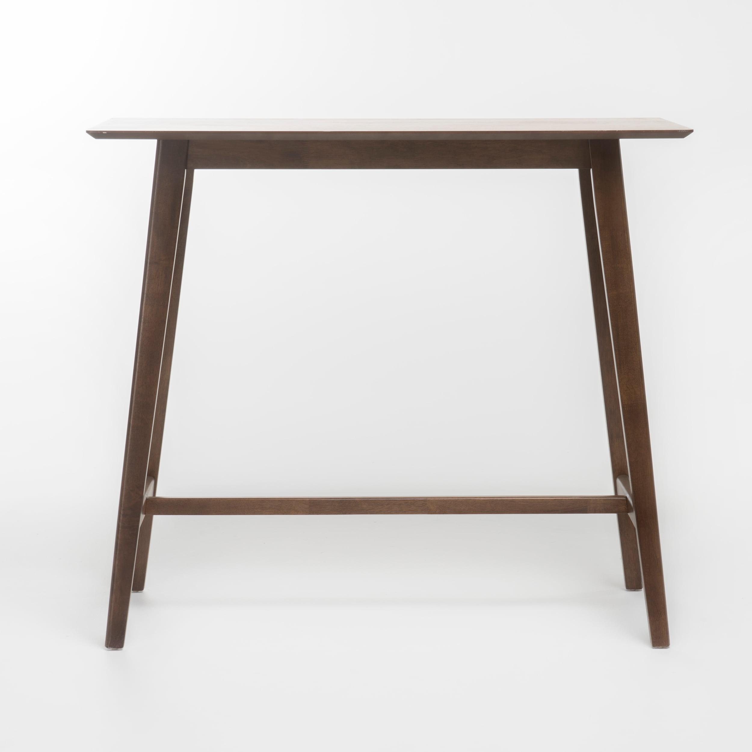 Noble house luzan walnut finish wood bar table walmart com