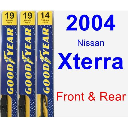 2004 Nissan Xterra Wiper Blade Set/Kit (Front & Rear) (3 Blades) - Premium