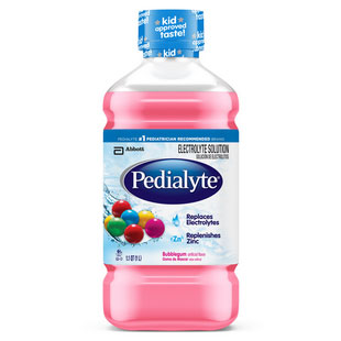 Pedialyte ReadyToFeed, Retail 1 L Bottle, Bubble Gum Part No. 51752 Qty 1