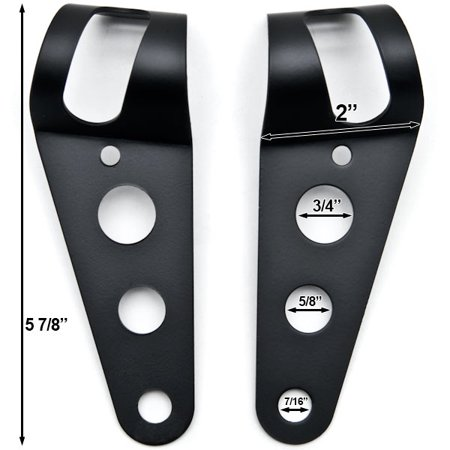 Black Headlight Mounting Bracket Fork Ears 31-37mm For Harley Davidson Softail Heritage Classic - image 4 of 6