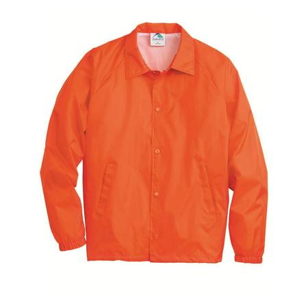 Orange Travel Jacket - Augusta Sportswear Outerwear Coach's Jacket