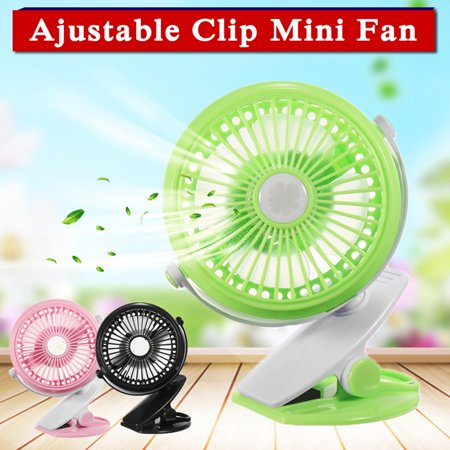 Mini Rechargeable Clip On Cooling Fan Portable Handheld 360° Adjustable USB Fan For Baby Stroller Baby Pram Table Desk