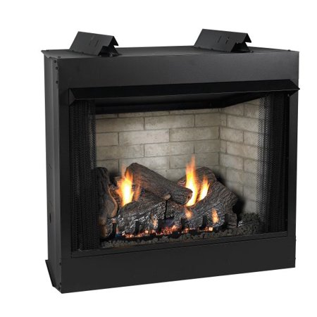 Deluxe 32 VF FF Firebox, Charred Logset & IP Slope Glaze Burner - LP