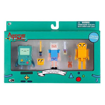 Adventure Time Collector's Pixel Pack Figure Pack [Finn, Jake & BMO] ()