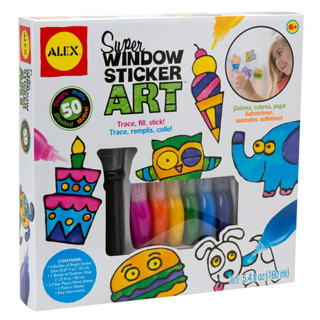 ALEX Toys Craft Super Window Sticker Art (Easy Halloween Art Crafts)