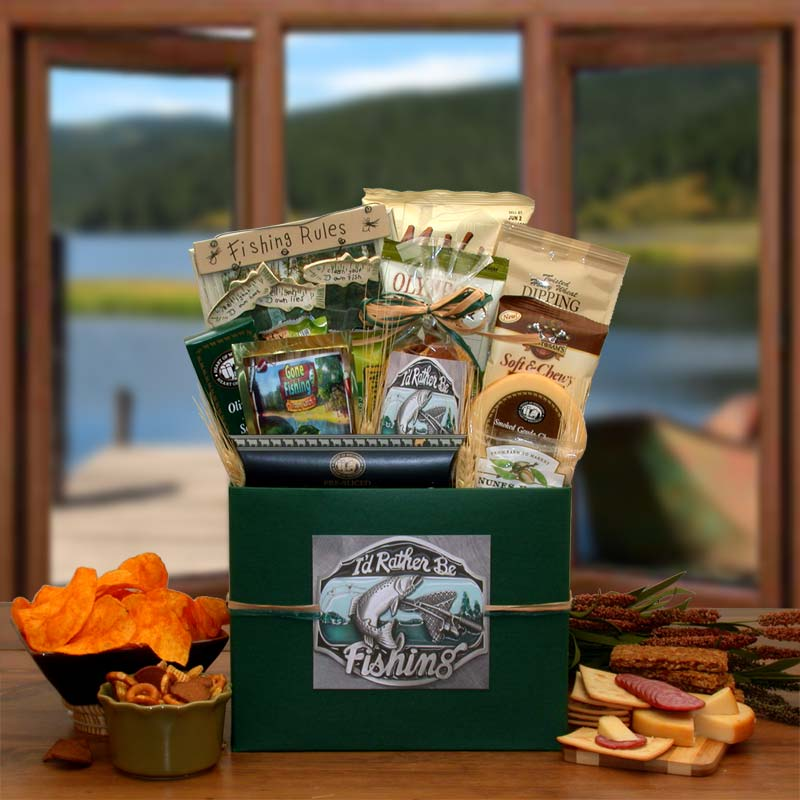 Gift Basket 852152 I'd rather Be Fishing Gift Box by Overstock
