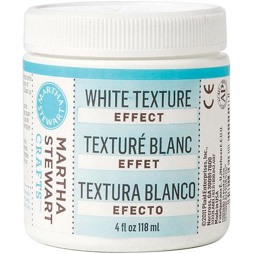 Martha Stewart White Texture Effect Paint, 4 oz