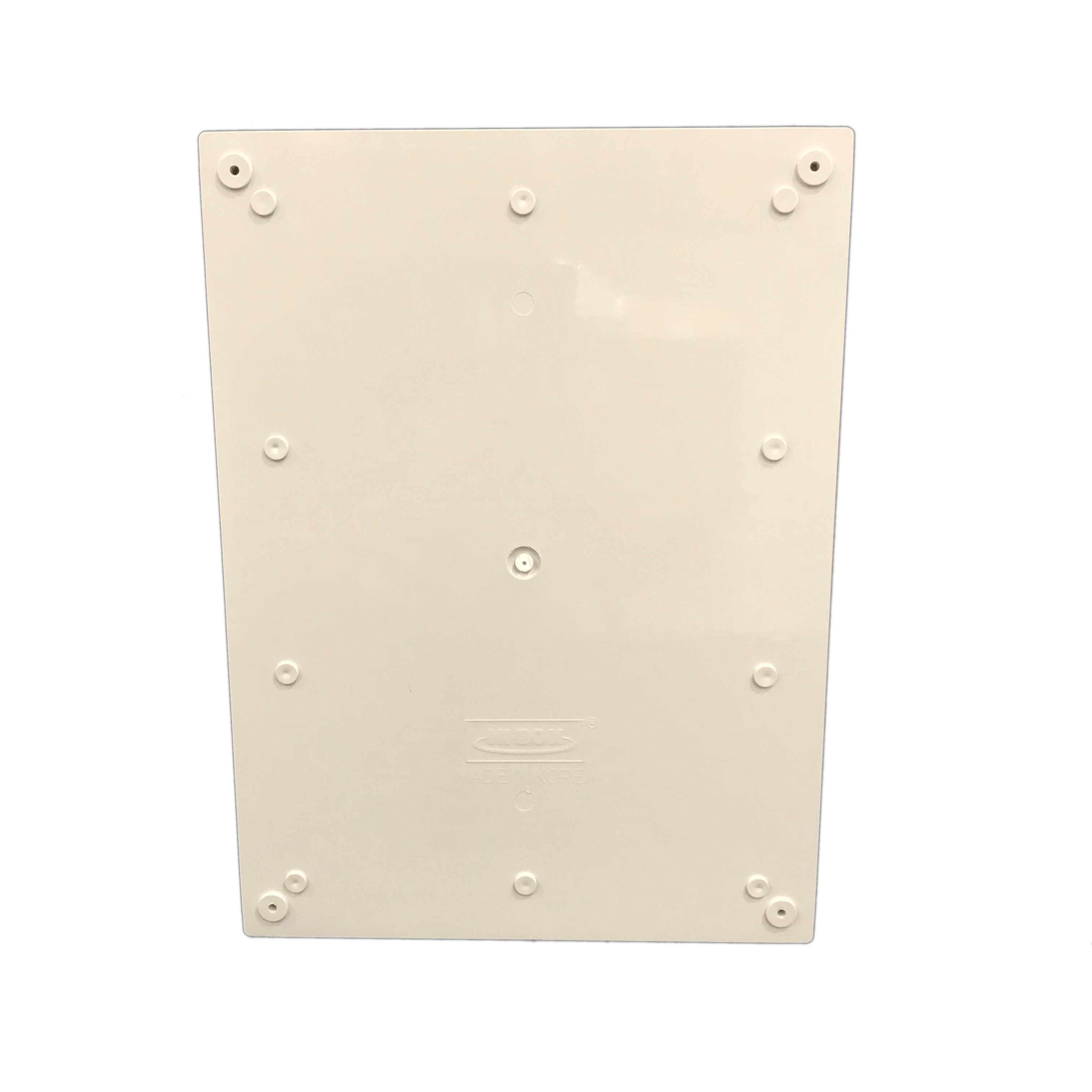 Light Gray Finish BUD Industries NBF-32026 Plastic ABS NEMA Economy Box with Solid Door 15-47//64 Length x 11-51//64 Width x 6-9//32 Height Four Pack