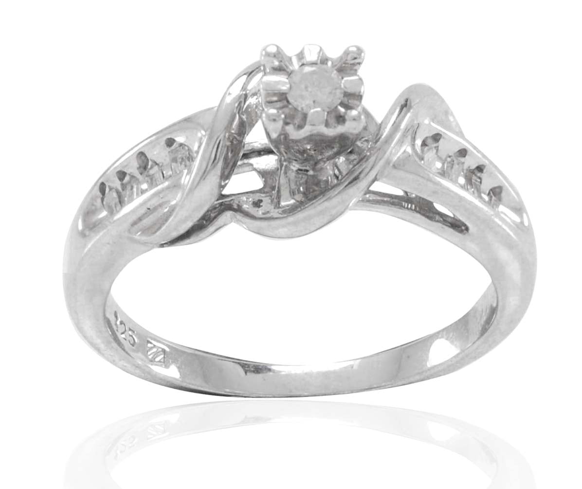 Sizes Available Real Sterling Silver Ribbons of Love Ring with Gift Pouch
