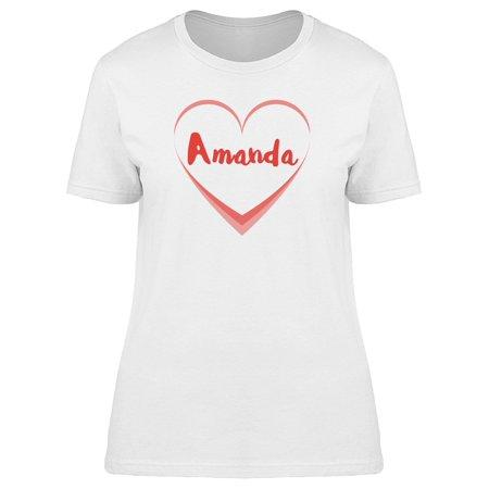 Amanda On White Heart Tee Women's -Image by Shutterstock