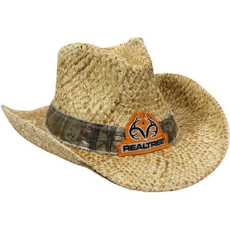 Realtree Straw Cowboy Hat, Natural/Realtree Xtra Camo](Camo Straw Cowboy Hat)