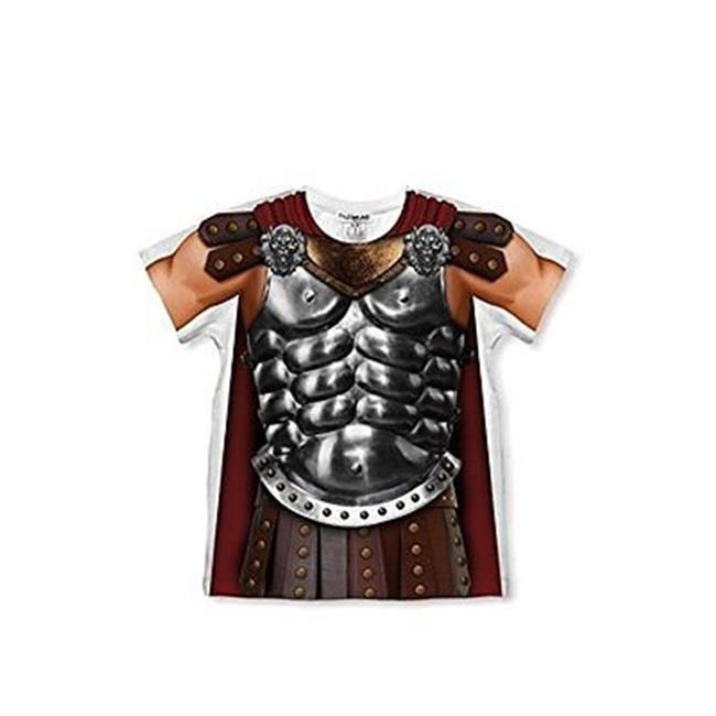 Creative Apparel Concepts F1221674T Short Sleeve Tee Faux Real Toddler Gladiator - 4 Tall - image 1 of 1
