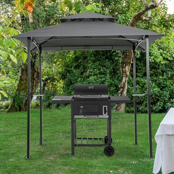 Enyopro Outdoor Grill Gazebo 8 X 5 Ft Patio Bbq Shelter Double Tier Bbq Canopy Tent