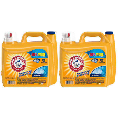 (2 pack) Arm & Hammer 2X Ultra Clean Burst Liquid Laundry Detergent, 210 Oz