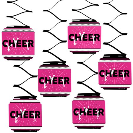 We've Got Spirit - Cheerleading - Birthday Party or Cheerleader Party Hanging Decorations - 6 Count - Cheerleader Supplies