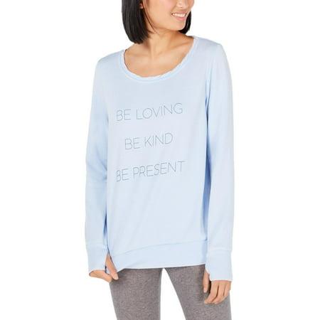 Ideology Womens Be Loving Fitness Activewear Sweatshirt